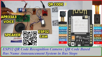 QR Code Based Bus Name Announcement System in Bus Stops | ESP32CAM QR Code Recognition