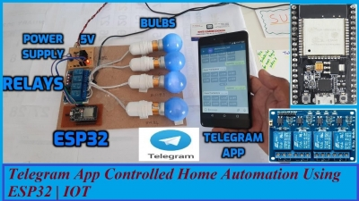 Telegram App Controlled Home Automation Using ESP32 | IOT