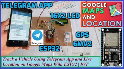 Track a Vehicle Using Telegram App and Live Location on Google Maps With ESP32